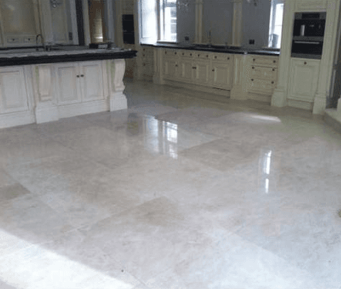 brushed marble tiles