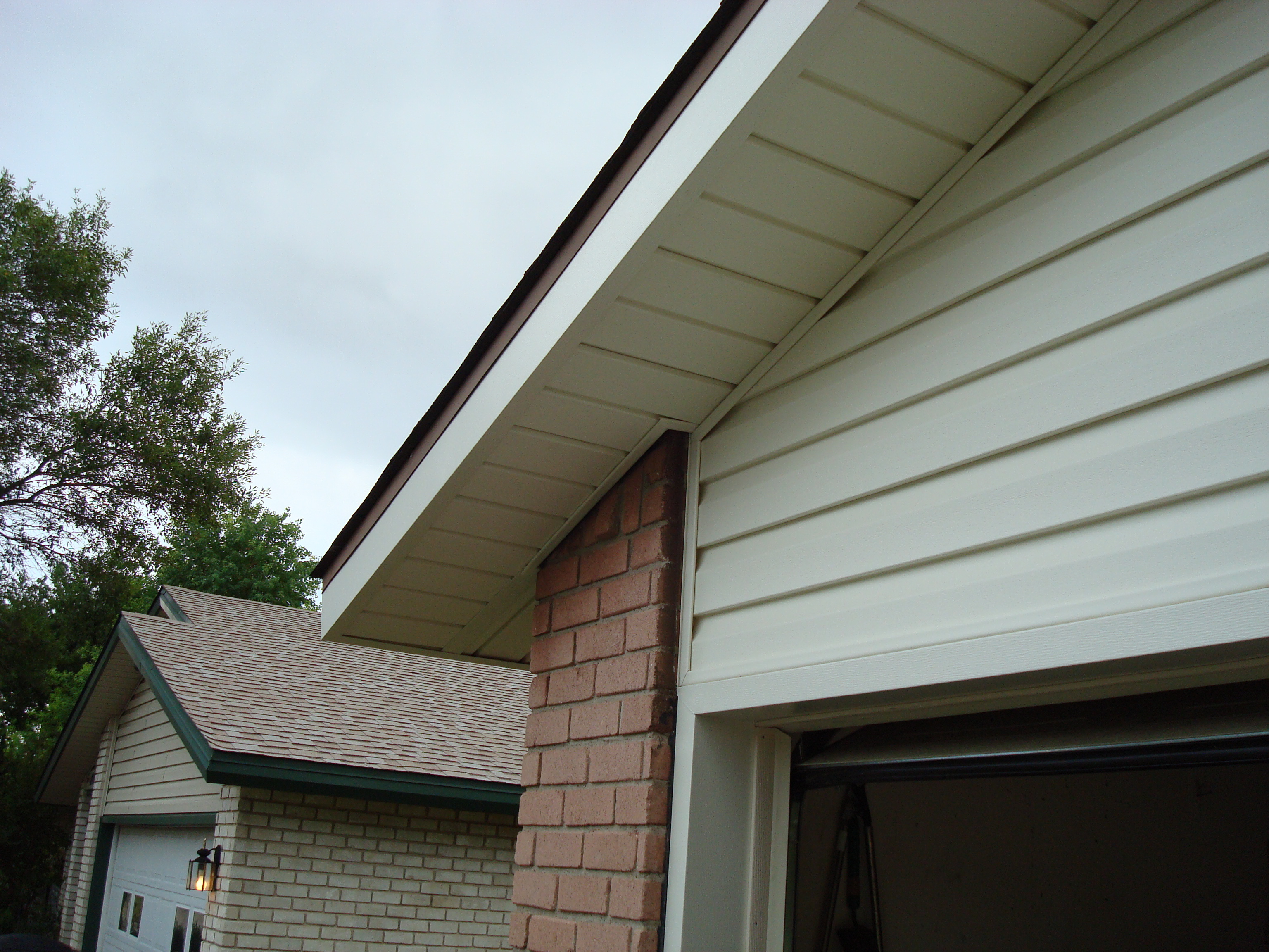 Eaves, and overhangs after repair
