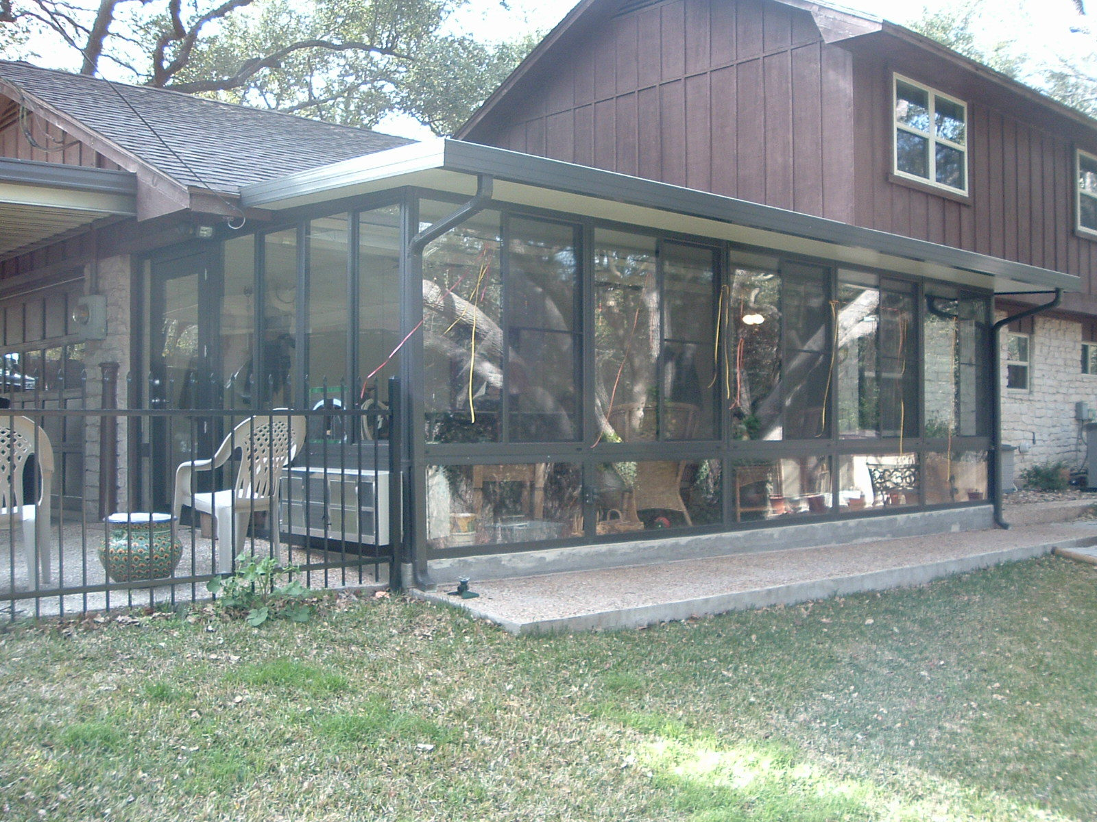 sunroom outside view
