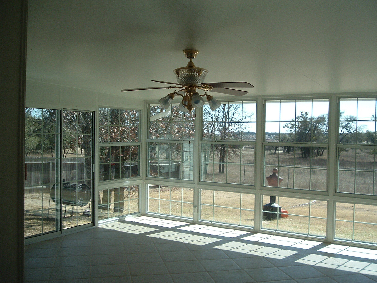 inside view of sunroom