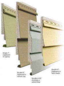 lifetime siding showing side view and color choices
