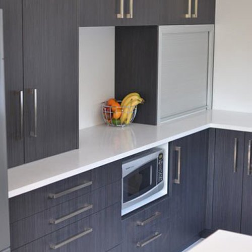 View of a kitchen storage space