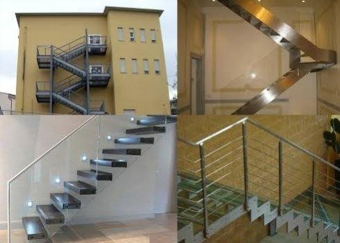 La ditta installa scale antincendio e di alto design