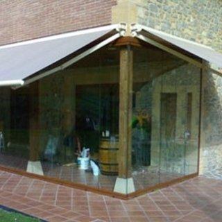 veranda con tenda