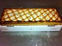 rectangular tart ricotta with choc chips
