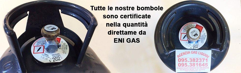 Bombole certificate ENI GAS