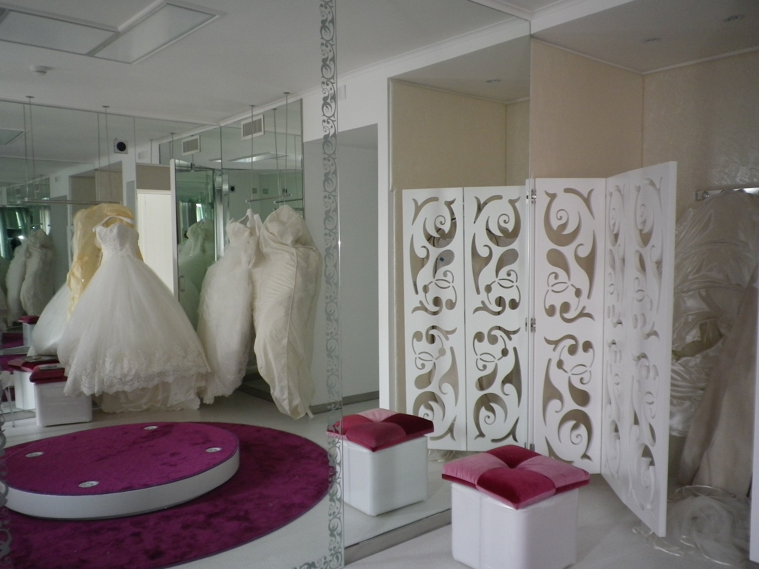 Interno di un atelier di moda