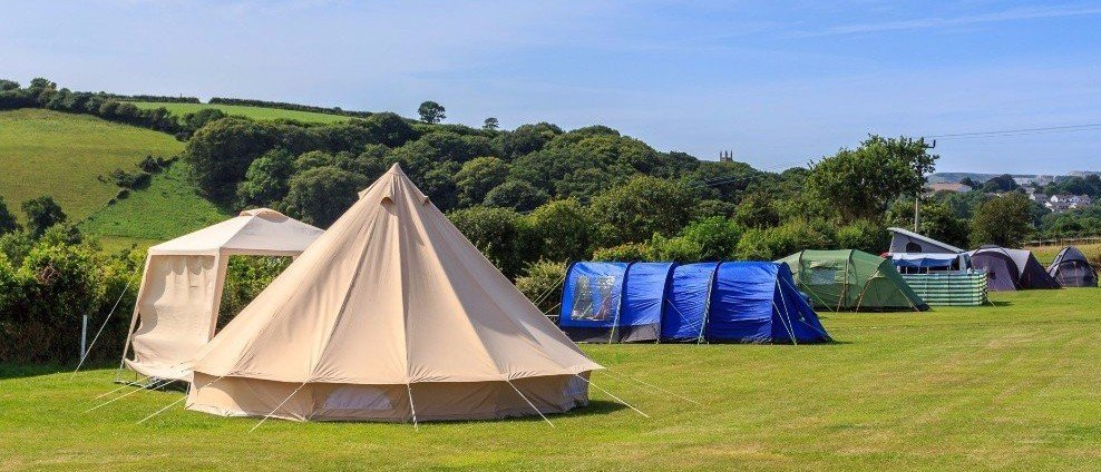 Campsite St Stephen, St Austell, Cornwall