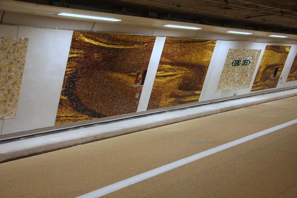 Paris Tunnel Mosaic Cinzia Pasquali