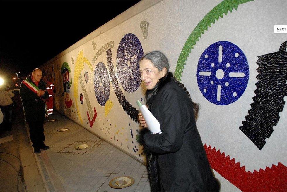 Mosaic by Artist Baj Wall in Pontedera