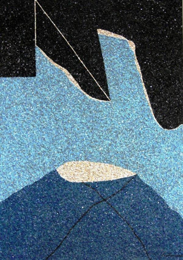Nero incombente - 1980 Mosaic by Giuseppe Santomaso