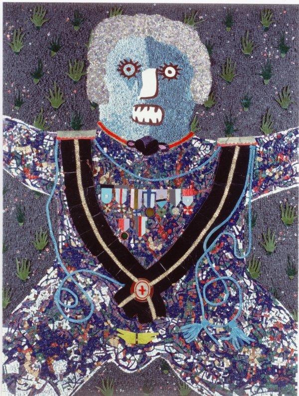 Enrico Baj mosaics