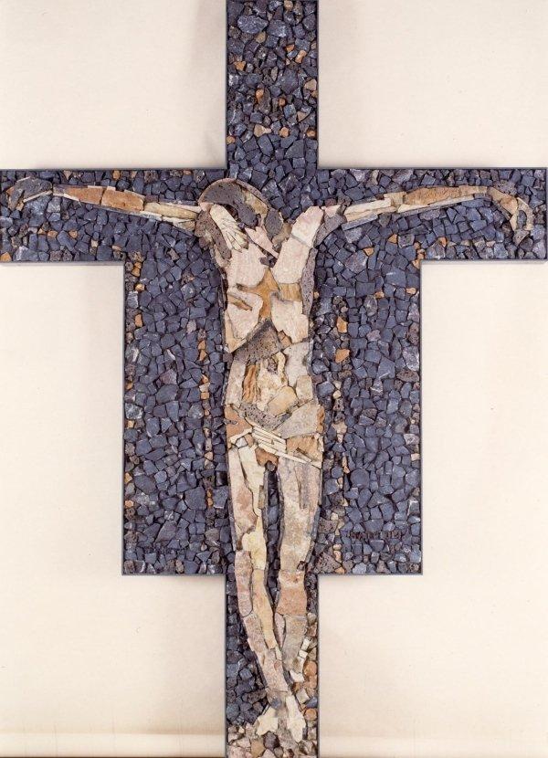 Carlo MATTIOLI crucifixion cm 142 x 215