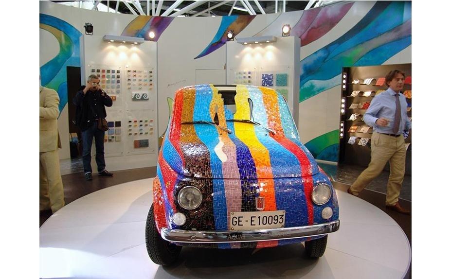 Fiat 500 by Artist Dario Brevi
