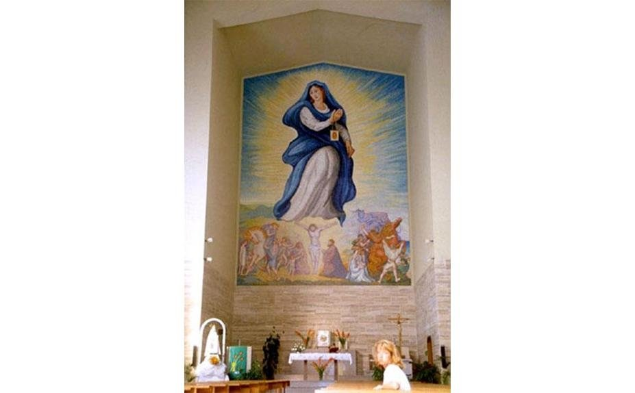 Aligi Sassu - Church in Alghero (Ss)