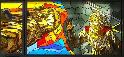 Lead bonded stained glass windows
