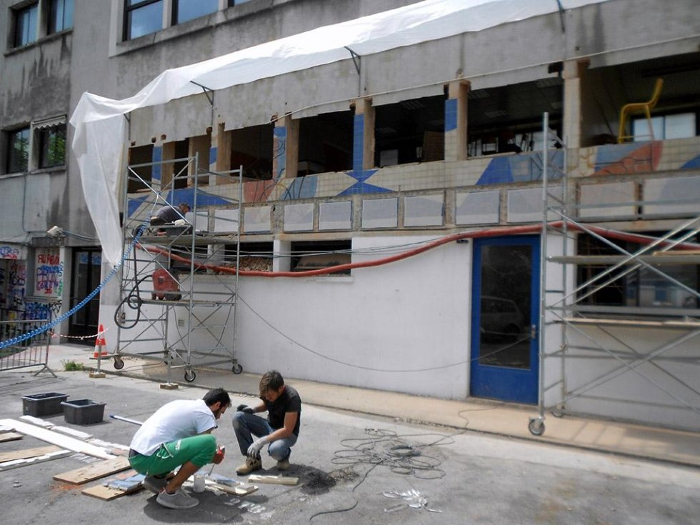 Restauro Mosaico Liceo Prony Parigi