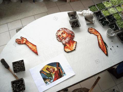 Fasi di lavorazioni mosaico
