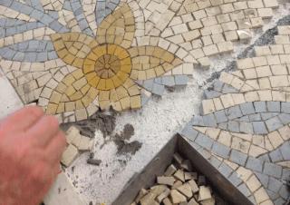 restauro dei mosaici