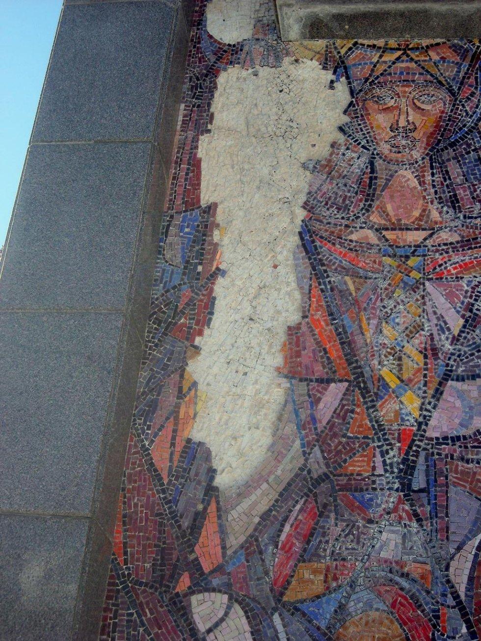 Restauro mosaico Cappella Cimiteriale Sondalo