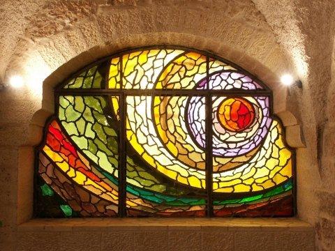 Stained glass window by artist Francesco Radaelli