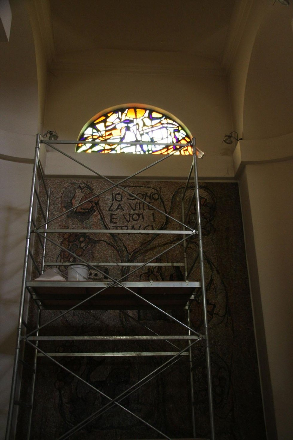Restauro e pulitura mosaico