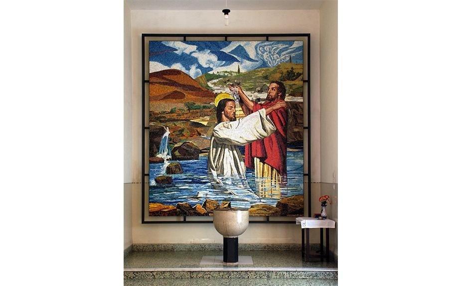 Artist P.F. Radaelli Haifa Mosaic Baptism