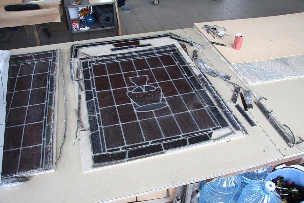 Restauro e messa in sicurezza vetrata