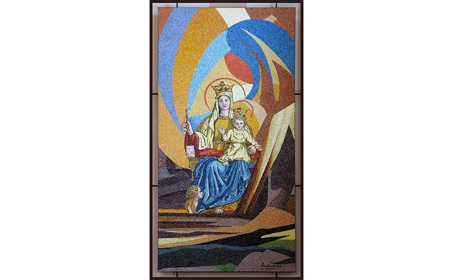 Artist P.F. Radaelli Haifa Mosaic Madonna and Child