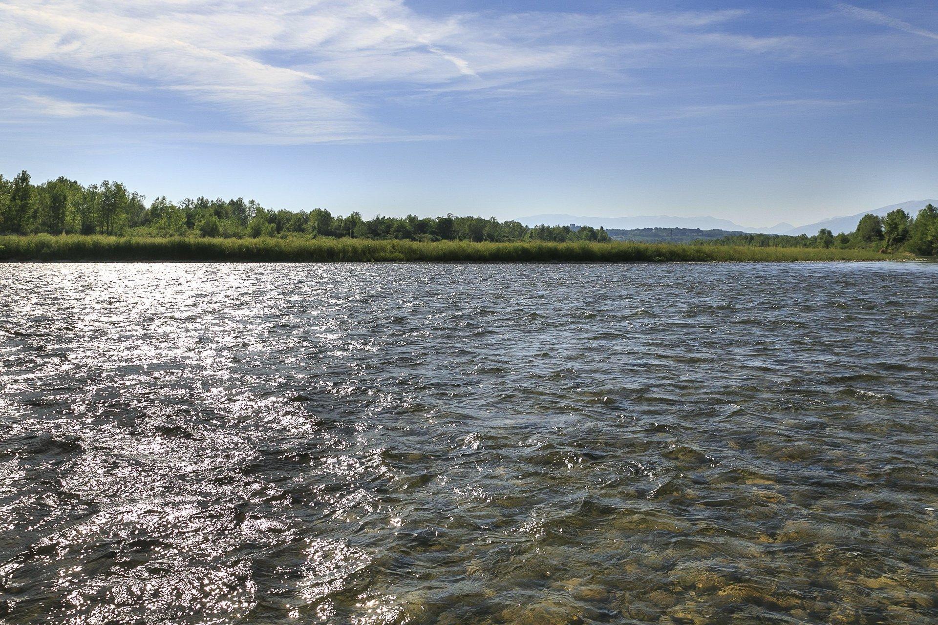 vista del fiume piave