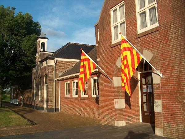 Voorzijde van Huys Egmont in de Slot weg te Egmond aan den Hoef