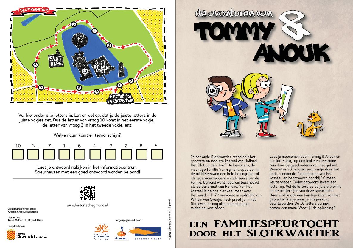 familiespeurtocht door het Slotkwartier, met Tommy en Anouk