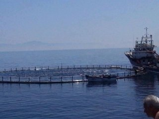 rete da pesca e peschereccio