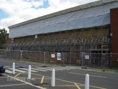 scaffolding for large commercial building