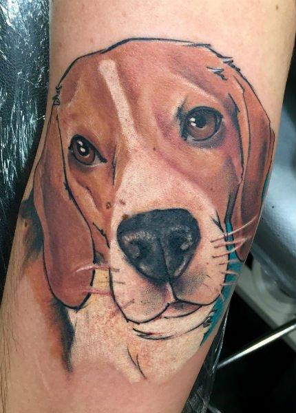 tattoo ritratto cane
