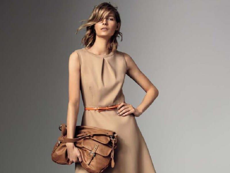 vestito a campana morbido con accessori seventy moda donna