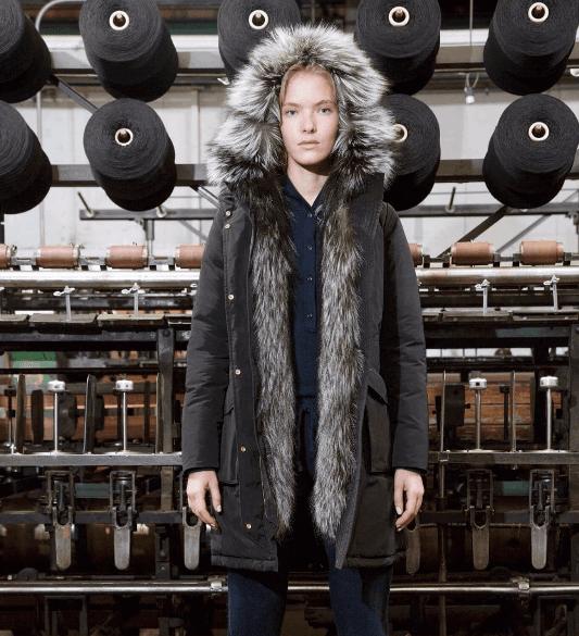 cappotto con pelliccia interna donna