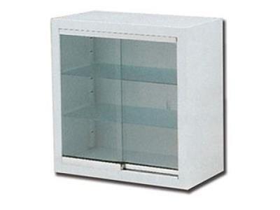 un armadietto in vetro