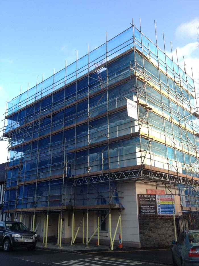 commercial building scaffold