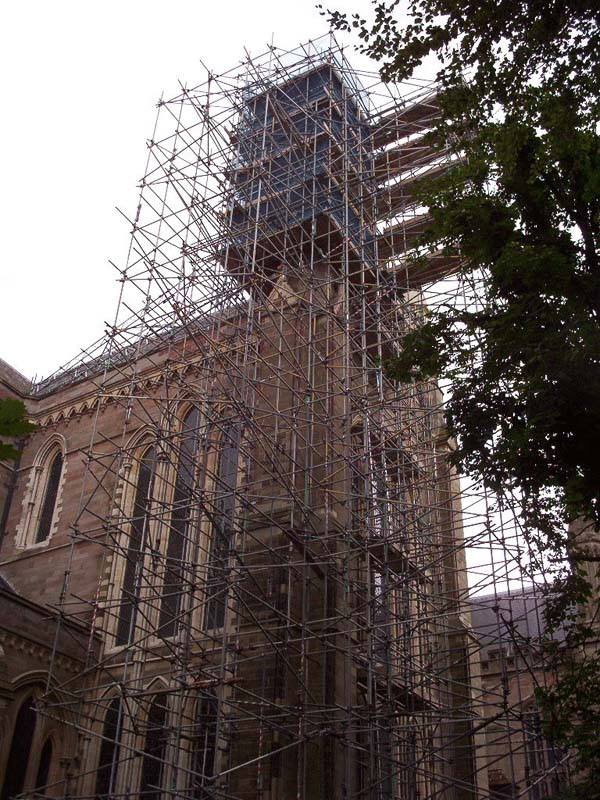 new commercial building scaffold