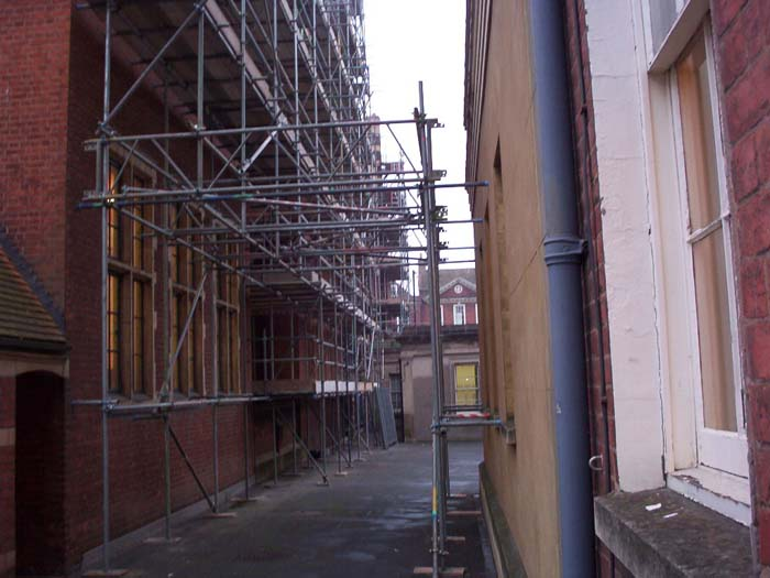 historial building scaffold