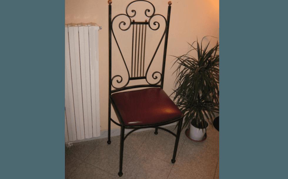 sedie in ferro battuto, arredamento in ferro battuto, lavorazione ferro battuto, Viterbo