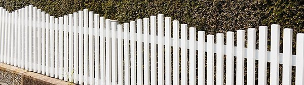 phantom fencing white coloured garden fencing