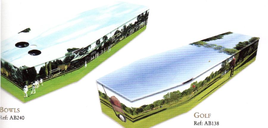 Bowls & Golf coffin