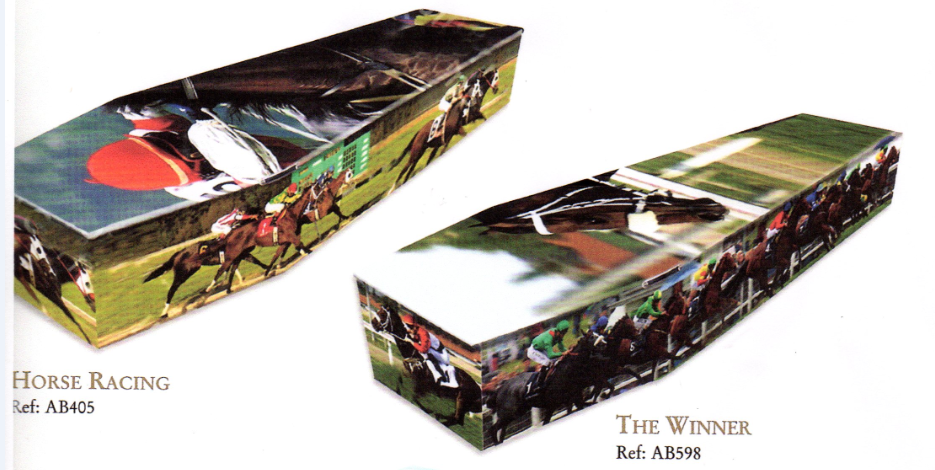 Horse Racing coffin