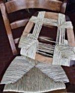 lavorazione impagliatura sedia