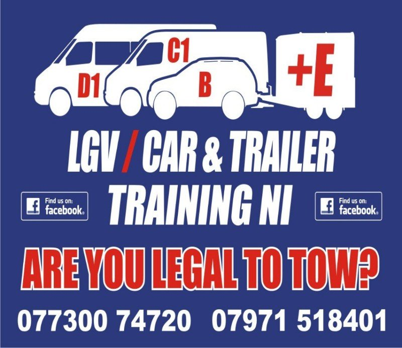 LGV Car and Trailer Training NI CampingNI