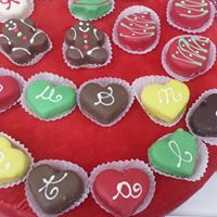 Cioccolatini assortiti a forma di cuore