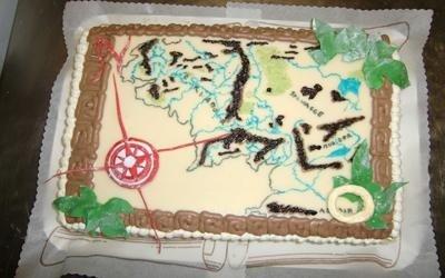 Torte mappa geografica