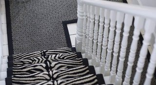zebra printed carpet